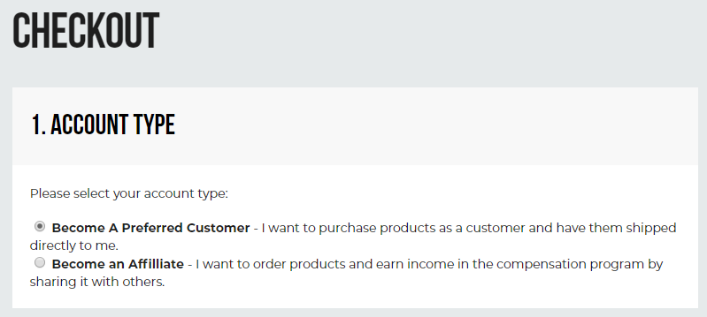 Hempworx checkout | Account types